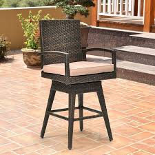 Outdoor Wicker Swivel Chair Costway Outdoor Wicker Swivel Bar Stool Chair Patio Backyard