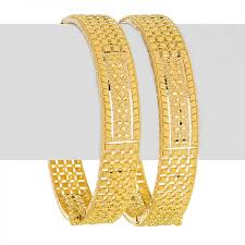 bracelet gold patterns images Slim pattern 22k gold bangles raj jewels jpg