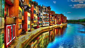 houses girona italy houses cityscapes pictures for desktop for hd