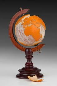 Creative Maps A Globe Made Out Of An Orange More Creative Maps U003e U003e World
