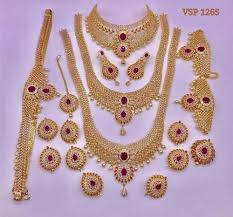 indian bridal necklace images Gold polish brass indian bridal jewelry sets rs 11000 set id jpeg