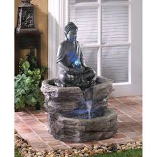 Indoor Standing Water Fountains by Amazon Com Zen Buddha Fountain Free Standing Garden Fountains