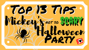 13 tips for the mickey u0027s not so scary halloween party youtube