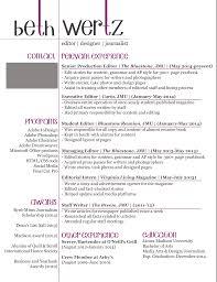 Server Bartender Resume Indesign Beth Wertz Resume Design