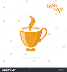 coffee cup logo design flat isolated stock vector 394563502