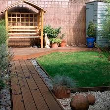 collection small back garden decking ideas photos free home