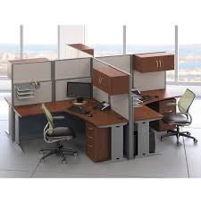 Office Desk Cubicles Bush Office In An Hour Oiah008hc 2 Qty L Shaped Desk Workstations
