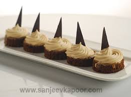 how to coffee mousse canapes recipe by masterchef sanjeev kapoor