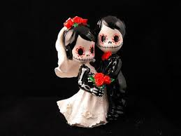 day of the dead cake toppers day of the dead wedding cake topper 3 inches dnacreations