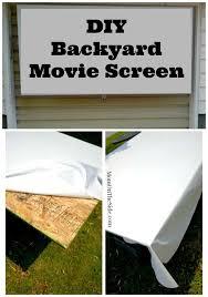 Backyard Theater Ideas Epson Home Cinema Diy Outdoor Movie Screen Backyard Movie