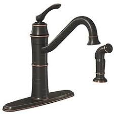 moen kitchen faucets rubbed bronze moen s7208orb woodmere one handle high arc pulldown kitchen faucet