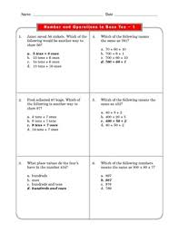 2 common core math worksheets number u0026 operations in base ten 2