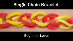 rainbow loom single chain bracelet lesson 1 youtube