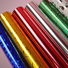 mylar wrapping paper metallized polyester pet mylar wrapgift wrapholographic gift