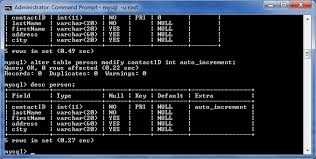 sql create table primary key autoincrement defining the database