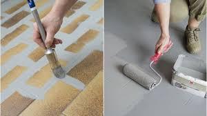 rev黎ement de sol cuisine revêtement cuisine sol murs crédence carrelage béton ciré