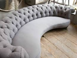 curved grey sofa in from alex macarthur couches pinterest