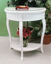 White Foyer Table Charleston Wicker Foyer Table With Glass Top