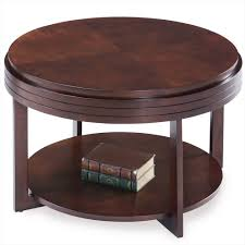 chocolate cherry round condo apartment coffee table 10108 ch