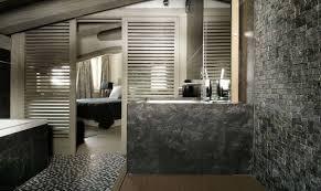 natural stone bathroom design ideas brown mosaic ceramic floor