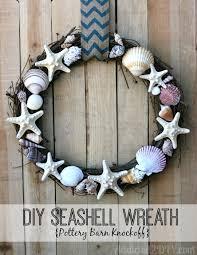 seashell wreath diy seashell wreath pottery barn knockoff addicted 2 diy