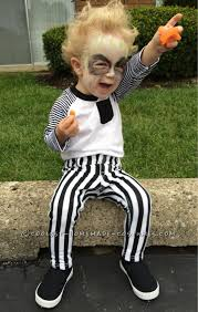 Baby Cowboy Halloween Costume Cute Diy Beetlejuice Costume Toddler Beetlejuice Costume