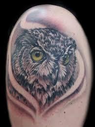 powerline tattoo tattoos shane baker green eyed owl