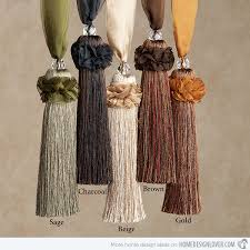Large Drapery Tassels Accessorize Curtains With 15 And Tassel Tiebacks Tassels