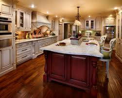 inspiring large kitchen ideas with refrigerator and wall decor