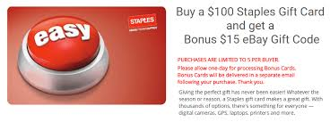 5 gift card expired ebay purchase 100 staples giftcard get 15 ebay giftcard