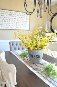bucket of flowers spring centerpiece