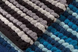 Wool Ball Rug Archangel Bath Rug 1pc Pebble Ball Plush And Hand Crafted Blue
