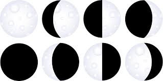 moon clipart moon phases chart free clip