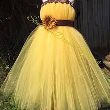 Chic Flower Yellow Flower Dress Vibrant Flower Dress Country Chic