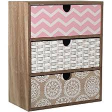 wooden shabby chic cabinet storage unit multi coloured drawers