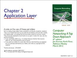 application layer computer networking chapter 2 презентация