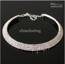 wedding choker necklace images Bridal jewelry crystal choker necklace 3 rows wedding choker jpg