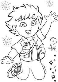 Picture Of Go Diego Go Coloring Page Netart Go Diego Go Coloring Pages