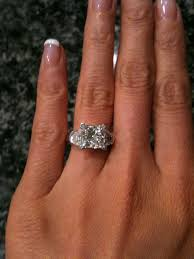3 karat engagement ring princess cut engagement rings 3 carat 12583