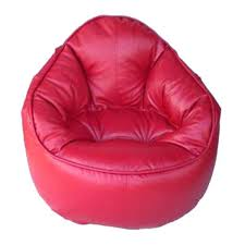 real bean bag chairs leather red bean bag chair cover i 1 4 bean