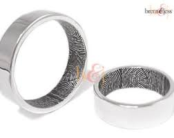 fingerprint wedding bands custom fingerprint jewelry by brent by fabuluster