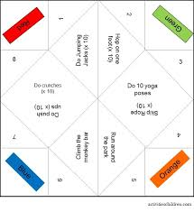 on fitness fortune teller printable how to