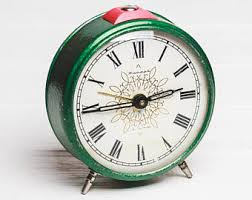 mechanical desk clock alarm clock soviet clock mechanical desk clock vintage home