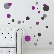 coloured polka dot wall stickers by snuggledust studios coloured polka dot wall stickers