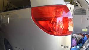 how to replace rear tail light toyota sienna minivan youtube