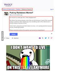 Throwing Up Rainbows Meme - puking rainbow meme 9gag
