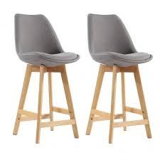 chaise bar couper le souffle tabouret de bar scandinave lot 2 tabourets gris