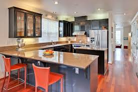 contemporary kitchen with kitchen island by suzy rodoni silverberg