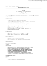 Sample Dance Resume For Audition by Awesome Dance Resume Samples Gallery Simple Resume Office