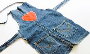easy sewing activity how to make an upcycled denim apron youtube